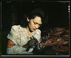 Woman Aircraft Worker